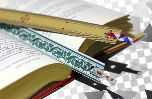 Washi tape bookmarks