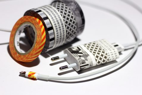 washi tape charger decoration