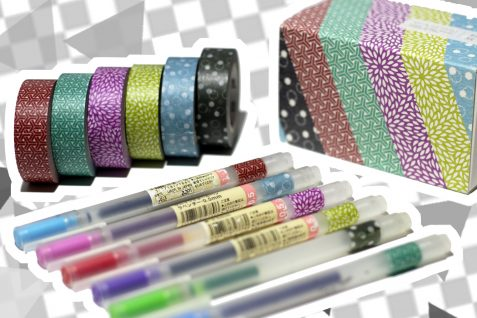 washi tape pen tags