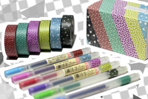 washi tape pen tags