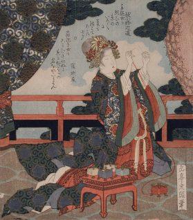 Tanabata Ukiyo-e by Yashima Gakutei – 19th century